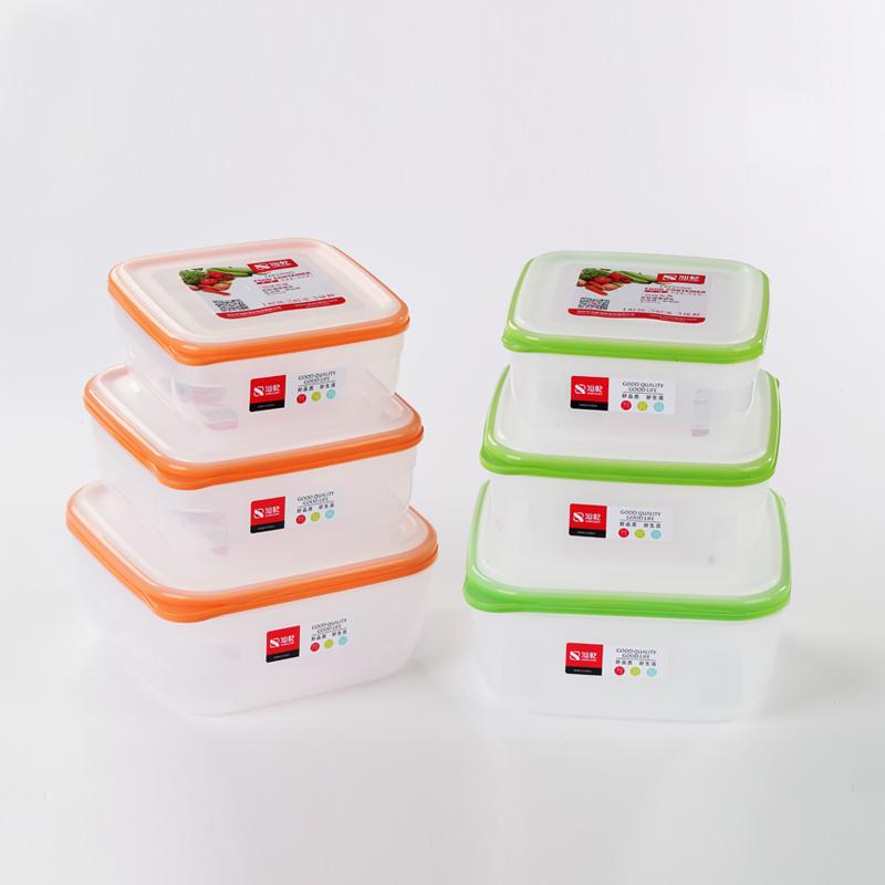 三套装方形密封保鲜盒