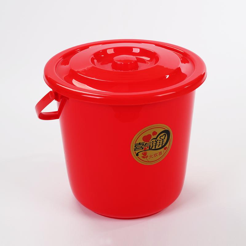 喜庆带盖水桶(16L)