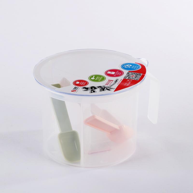 简约圆形三格调味盒